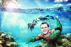 RUMOR: Matt Damon pode viver o Aquaman no filme Liga da Justiça
