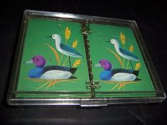 2 decks of Whitman Pinochle playing cards Birds Colorful Ducks