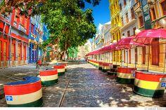 Rua do Bom Jesus, Recife antigo, Pernambuco, Brasil. A foto mostra  montagem da…
