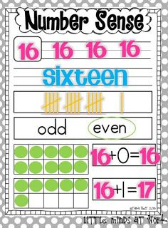 Number Sense Classroom Resources {freebie}...Use something like the bottom portion for teaching facts up to 20 to kids who aren't solid on them yet?