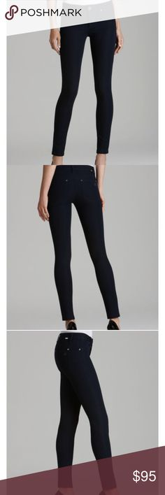"DL 1961 EMMA Super Skinny cropped Black Riker Sz27 Mint condition, worn a few times. Ultra black Riker, Slim, skinny and streamlined, DL1961's Emma jeans are the perfect fit for day or night. Team them with graphic tees or sparkling tanks--the styling options are virtually endless. Tonal stitching 9"" rise, 26"" inseam DL1961 use fibers that require half the dye, half the water and half the energy it typically takes to produce traditional denim. Modal/polyester DL1961 Jeans Skinny"