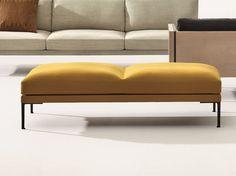 Gepolsterte Sitzbank ohne Rückenlehne Kollektion Steeve by Arper | Design Jean-Marie Massaud