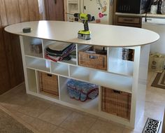 Diy Kitchen Island Ikea ikea hackers kitchen island made of desk top and bookcase. would