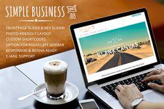 Simple business WordPress theme. Clean, modern, corporate feel.