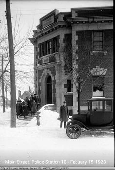 Main St Police Station :1923 Toronto Ontario Canada, Police Station, Old City, Historical Photos, Interesting Stuff, Beaches, Past, The Neighbourhood, Nostalgia