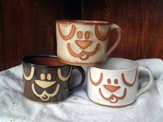 Hey, I found this really awesome Etsy listing at http://www.etsy.com/listing/163293942/dog-mugs-handmade-stoneware-pottery