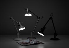 Curious desk lamps...