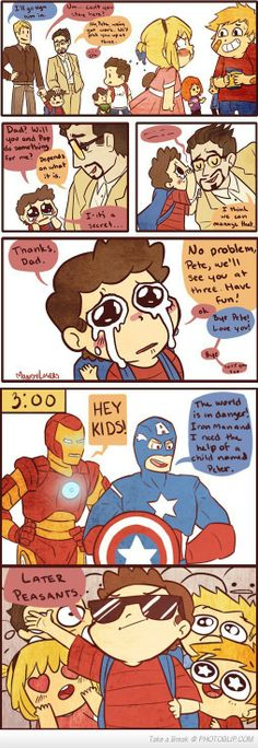 Awesome Dads... But everyone knows Tony belongs with Bruce!