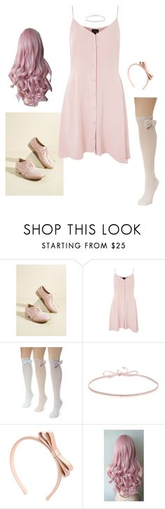 """""""Cotton Candy Pink"""" by e-c-a-17 ❤ liked on Polyvore featuring Topshop, Muk Luks, Finn and RED Valentino"""