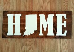 Indiana State Map Home Wood Sign by ScrappyMadison on Etsy