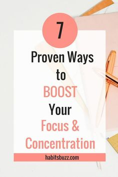 If you want to increase your productivity, you should be able to stay focused. Learn 7 proven ways to increase focus and concentration. Self Development, Personal Development, Leadership Development, Focus At Work, How To Focus, Inspiration Entrepreneur, Natural Cough Remedies, School Study Tips, Time Management Tips