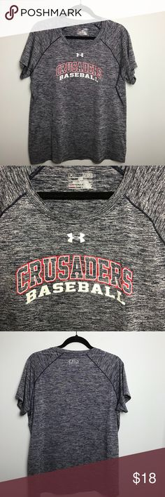 Under Armour Shirt. Size XL Under Armour Crusaders Baseball Shirt. Loose fit. Scoop neck. Size XL Under Armour Tops