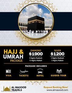 White Hajj and Umrah Package Travel Agency Flyer Vacation Packages, Vacation Trips, Travel Agency Logo, Travel Logo, Ramadan Poster, Last Minute Travel, Travel Brochure, Travel Channel, Event Posters