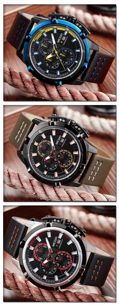 Men's Sport luxury watches - the Megir ML20 military sport timepiece chronograph - men's fashion accessories #menswatch #menwatch
