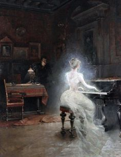 Vintage painting by George Roux, Spirit 1885 Renaissance Kunst, Illustration Art, Illustrations, Classical Art, Fine Art, French Artists, Art Plastique, Oeuvre D'art, Dark Art