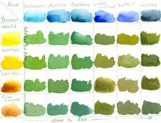 Jeanne Dobie's Mixing Greens - and Mixing Darks - WetCanvas