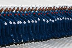 Chinese pilots are preparing for a parade