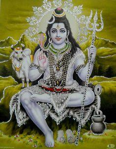 Lord Shiva/ Shivji/ Hindu God Poster with Glitter Effect X Inches Shiva Parvati Images, Shiva Hindu, Shiva Art, Hindu Art, Krishna Images, Lord Shiva Pics, Lord Shiva Hd Images, Lord Shiva Family, Lord Murugan Wallpapers