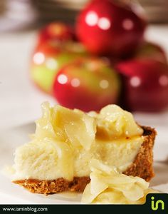 Cheesecake with caramelized apples  Photo © Vadim Daniel
