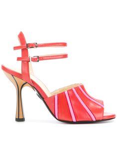 contrast striped sandals - Red Marni goUjTpVzJ