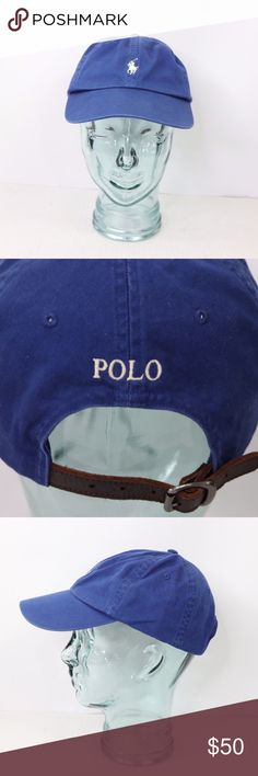 0250bfa04dd Vintage Ralph Lauren Spell Out Leather Buckle Hat