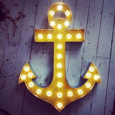For outside by the pool - Giant Anchor Industrial Marquee Light Up Letter Sign 90cm wide