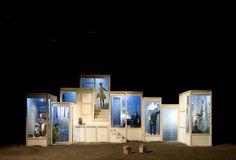 La Seconde Surprise de l'amour (1727), by Pierre de Marivaux Compagnie Tandaim's 2008 production. Set Theatre, Set Design Theatre, Theatre Stage, Theatre Nerds, Bühnen Design, Design Model, Opera Do Malandro, Scenography Theatre, Stage Set Design