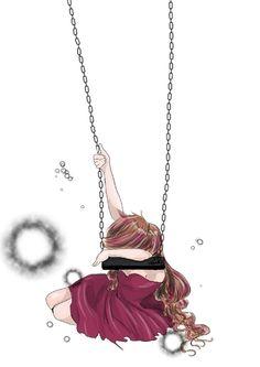 Farewell Innocence - emo, scene, girl, on, swing, sadness, alone, depressed