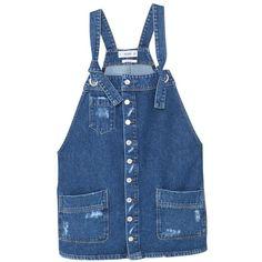 MANGO Medium denim dungarees (465 DKK) ❤ liked on Polyvore featuring jumpsuits, blue jumpsuit, denim jumpsuit, denim dungaree, mango jumpsuit and strappy jumpsuit