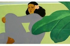 Kailua Moon Diptych 1983 by Pegge Hopper - Limited Edition Print Selling Art Online, Online Art, Pegge Hopper, Polynesian Art, Hawaiian Art, Vintage Hawaii, Character Design Animation, Illustrations, Les Oeuvres