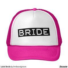 Label Bride Trucker Hat