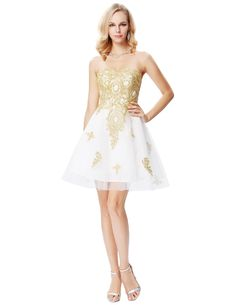 Champagne Sweetheart Tulle Knee Length Short Prom Dress in Prom Dresses Free worldwide shipping! Affordable Prom Dresses, Prom Dresses Online, Cheap Prom Dresses, Prom Party Dresses, Short Dresses, Party Gowns, Classy Outfits For Women, Classy Women, Gold Formal Dress