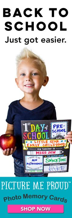 Such a cute way to take that first day of school picture. And the set includes 9 other boards, too! Children Photography, Photography Ideas, First Day Of School Pictures, Childrens Gifts, Photo Memories, Lbd, School Ideas, Baby Kids, Homeschool