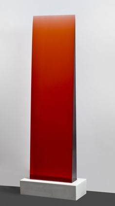 Red Gradient Filter Wedge Cast Polyurethane Resin fused to Marble Dust and Resin Base 18″ x 75″ x 5″