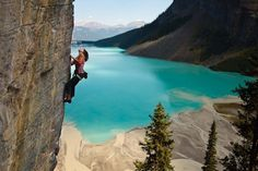 Climbing | Lake Louise, Banff National Park, Canada.