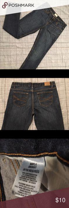 Aeropostale Bayla Skinny Jeans 9/10 Reg One pair of Aeropostale Bayla Skinny Jeans in excellent condition. Lovely dark wash. Aeropostale Pants Skinny