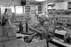Beatrice Wood in her studio, c 1980