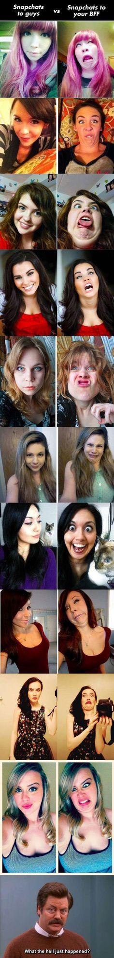 Snapchating: Guys vs BFF's // funny pictures - funny photos - funny images - funny pics - funny quotes - #lol #humor #funnypictures
