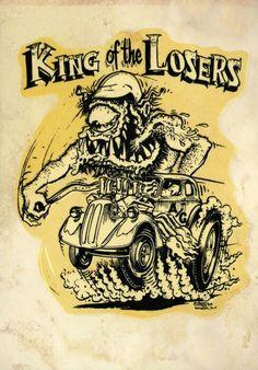 Ed Roth Anglia ( GanGreene ) Vikings Hot Rod club 1967 Cartoon Monsters, Cartoon Art, Ed Roth Art, Cool Car Drawings, Rat Fink, Artwork Images, Lowbrow Art, Big Daddy, Automotive Art
