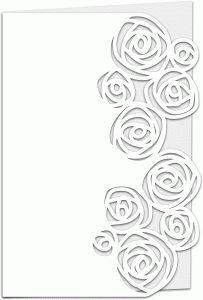 View Design #66379: roses lace edged 7x5 card