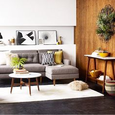 chaise part of couch might work.... I like the small coffee table with it.