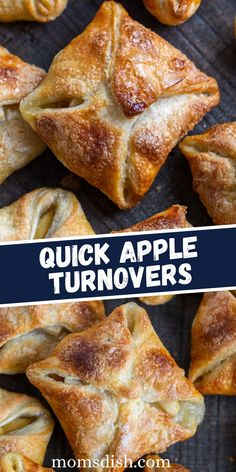 Take a bite into these mouth-watering apple turnovers. They are delicately crunchy as you bite in, filled with a sweet, tart flavor of fresh apples and lightly topped with delicate flavor of sugar.