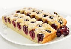 Prajitura cu cirese - reteta video Romanian Desserts, Romanian Food, Romanian Recipes, No Cook Desserts, Sweet Desserts, Chef Recipes, Sweets Recipes, Good Food, Yummy Food