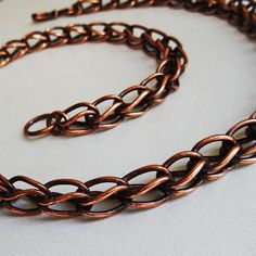 Thick Copper Roman Chain Handmade Soldered Links 22 by sparkflight