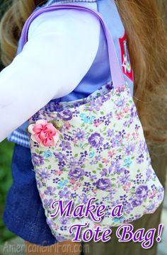 americangirlfan:  Doll Craft:Make a Tote Bag