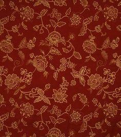 Home Decor Print Fabric-Jaclyn Smith Darcy-Crimson
