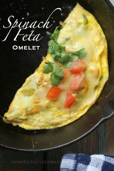Spinach Feta Omelet is so delicious and healthy too!  A great way to start your day!