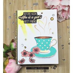 We're kicking off the Summer Coffee Lovers Blog Hop today and we're so excited to be a Super Sponsor!!! Head on over to our blog for more details #theton #thetonstamps #papercrafts #cardmaking #summerclh