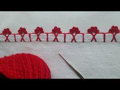 Crochet Edging Patterns, Crochet Stitches, Embroidery Stitches, Hand Embroidery, Crochet Flowers, Crochet Lace, Diy Crafts Crochet, Big Knit Blanket, Jumbo Yarn