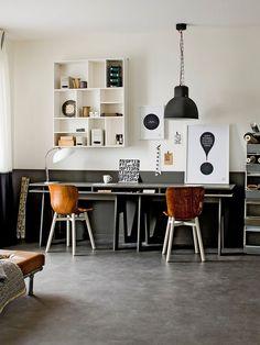 Home Office para Dois com Luminária Pendente